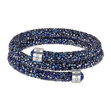 PULSERA SWAROVSKI CRYSTALDUST DOUBLE BLUE