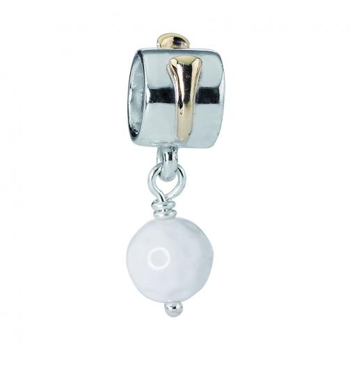 Abalorio Pandora Des de plata y oro y bola de golf  imagen 1