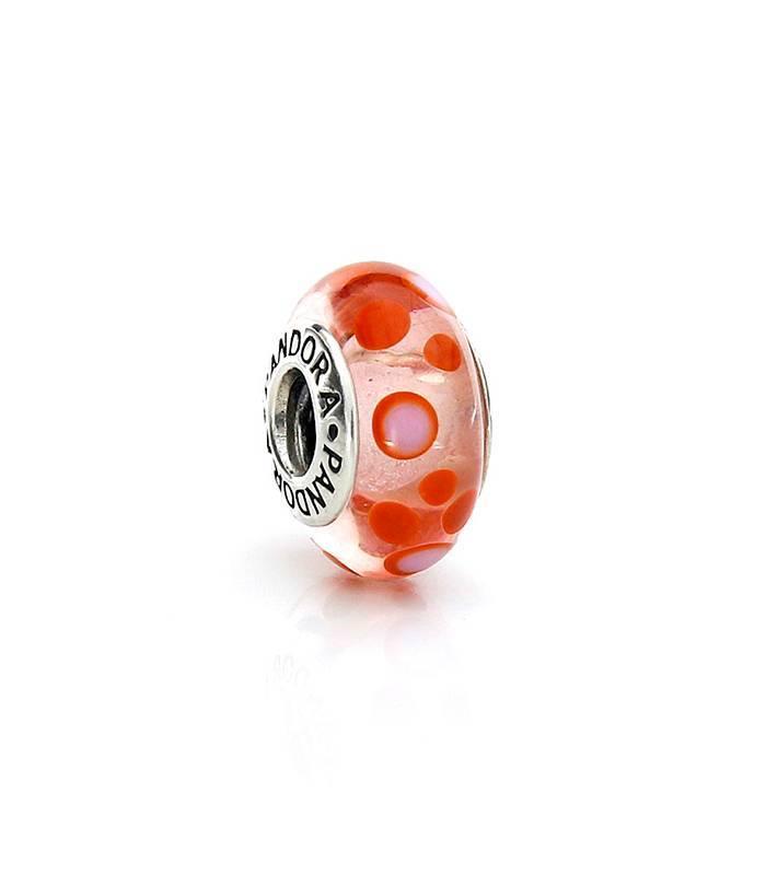 Murano burbujas naranjas