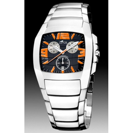 Reloj LOTUS Shine negro y naranja