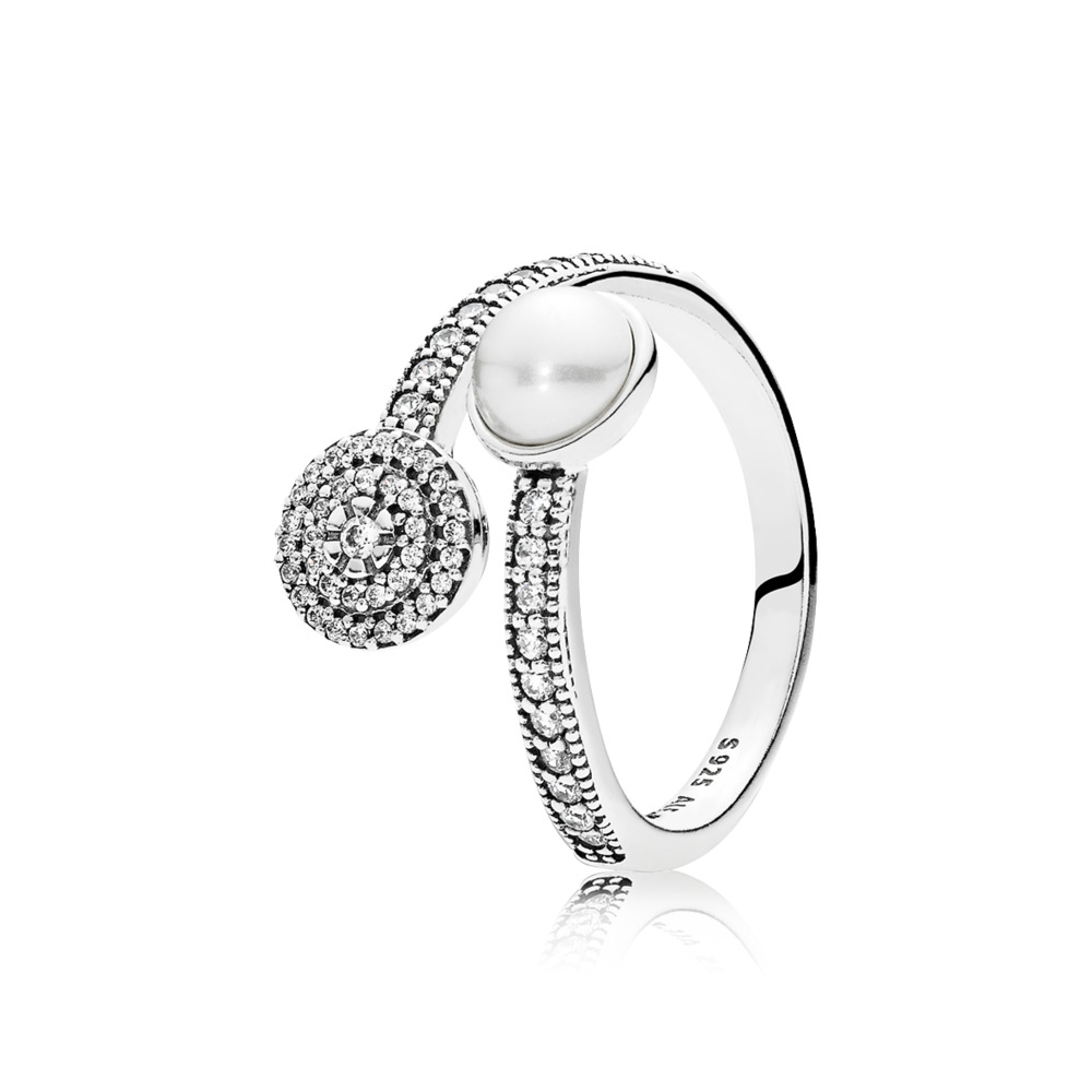 Anillo Pandora Resplandor Luminoso perla