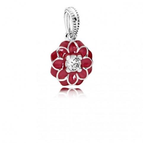 Colgante Pandora Flor Oriental rojo