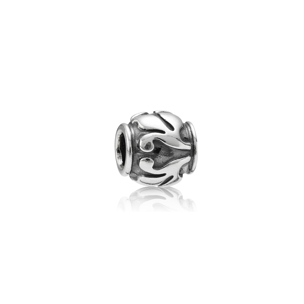 Abalorio Pandora hojas amigables plata