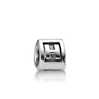 Abalorio Pandora plata letra inicial H