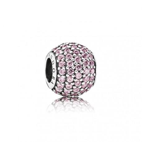 Charm Pandora pavé rosa claro