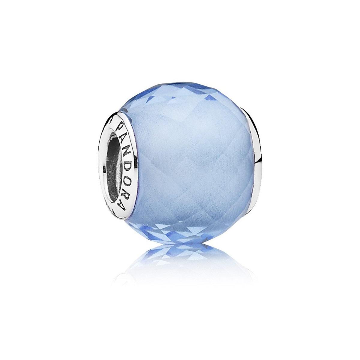 Charm Pandora azul facetado