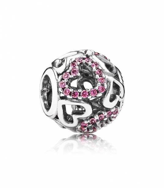 Charm Pandora enamórate circonitas rosas