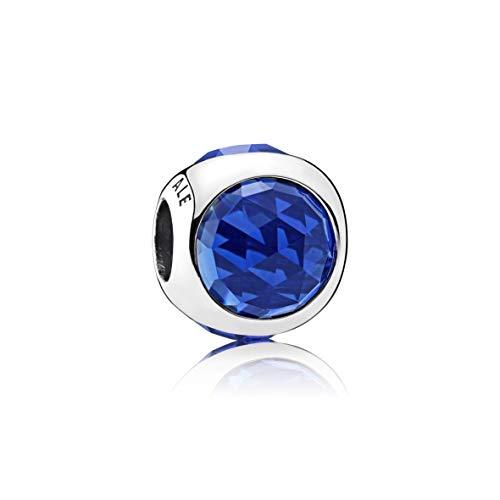 Charm Pandora gota radiante azul oscuro.