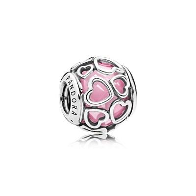 Charm Pandora amor encerrado rosa
