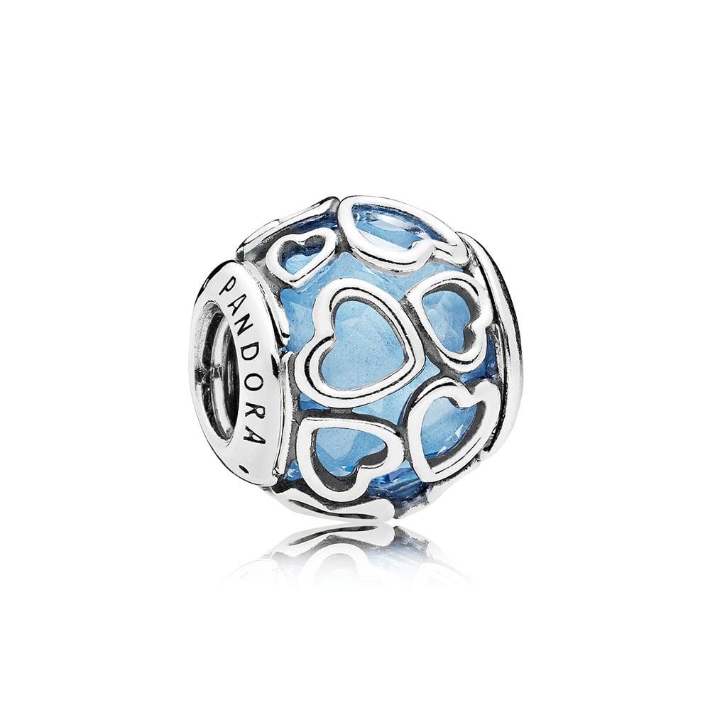 Charm Pandora corazón enamorado azul