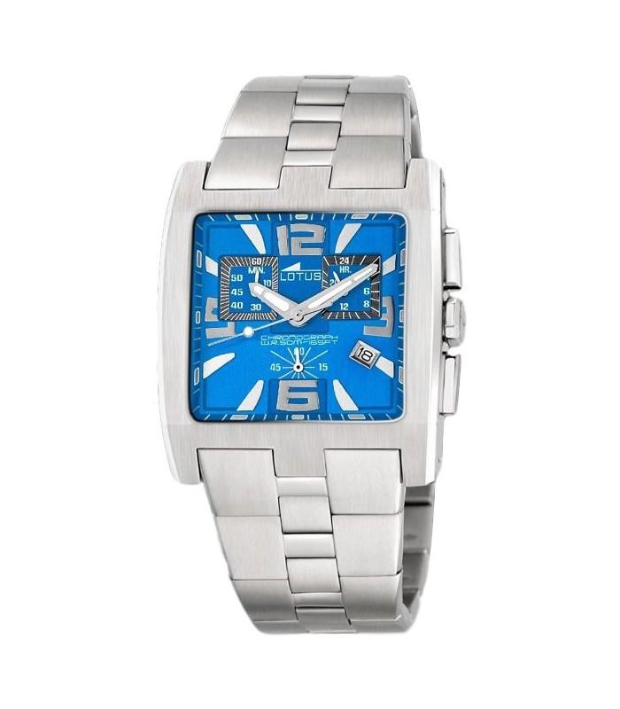 Reloj Lotus cuadrado crono azul