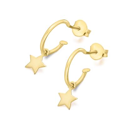 Pendientes Chapa Estrella Plata/Oro
