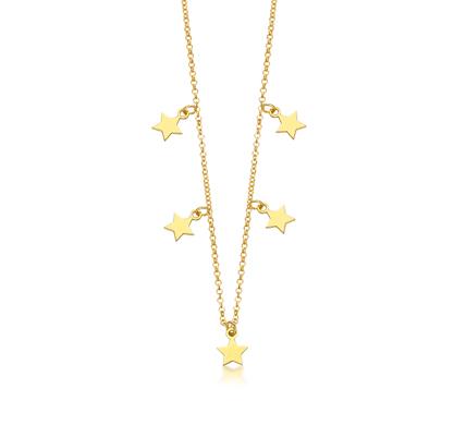 Gargantilla de Estrellas Plata/Oro