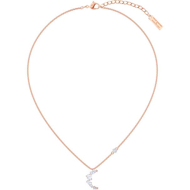 Collar Penélope Cruz Moonsun, blanco, baño de oro rosa