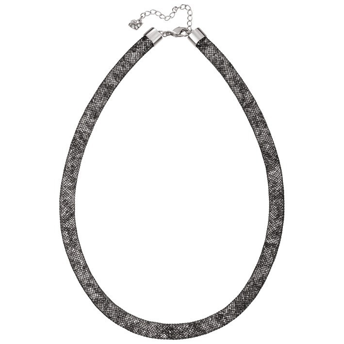 Collar Stardust Swarovski Black color negro y blanco.