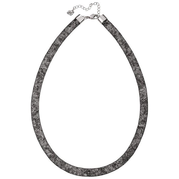 Collar Stardust Swarovski Black color negro y blanco.