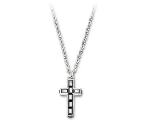 Collar Tace Cross Black Hematite Swarovski
