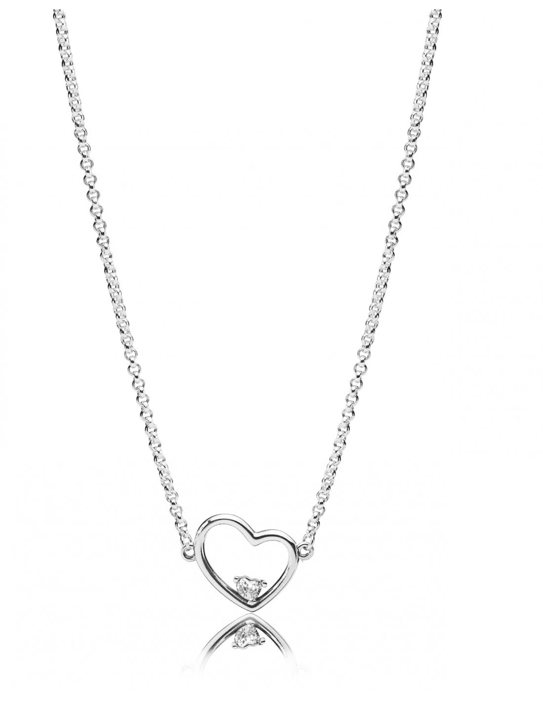 collar corazon asimétrico