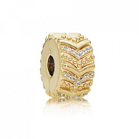 clip pandora dorado