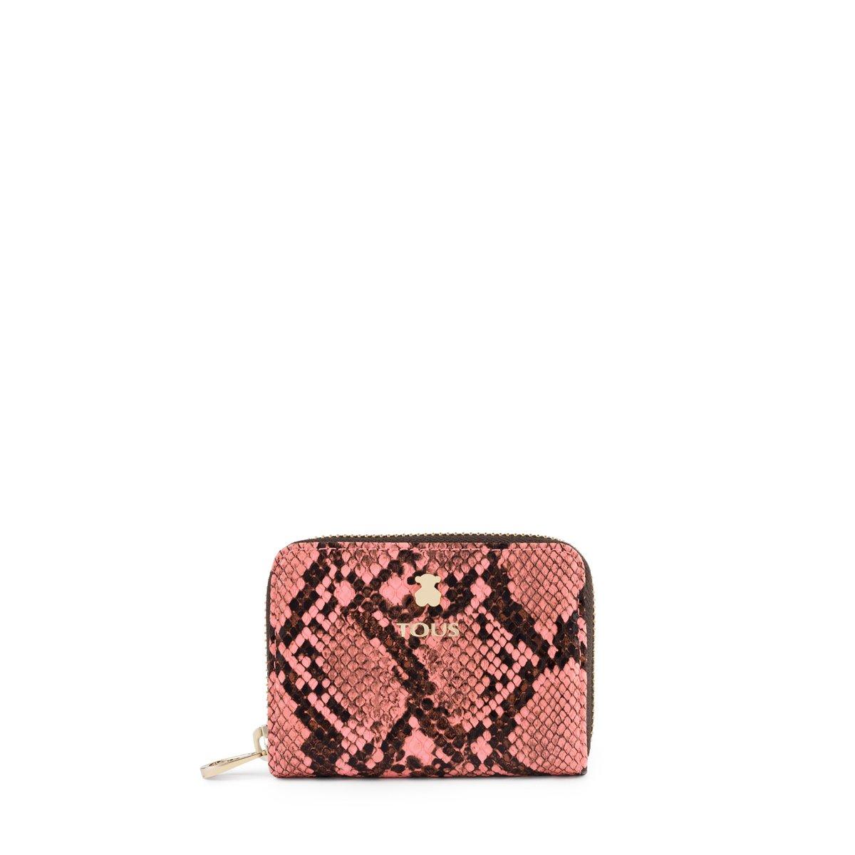 Monedero mediano Dorp Wild rosa