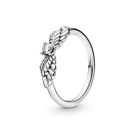 anillo alas y circonita