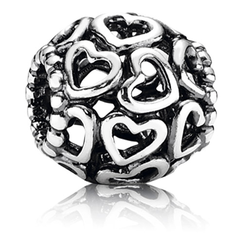 Abalorio Pandora corazones calados imagen 1