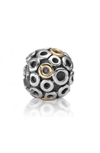 Charm Pandora círculos oro y plata.