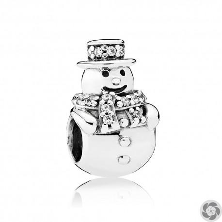 Abalorio Pandora muñeco de nieve
