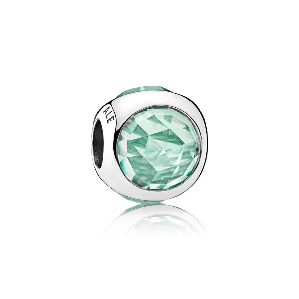 Charm Pandora gota radiante verde claro