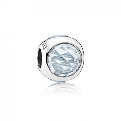 Charm Pandora gota radiante azul claro