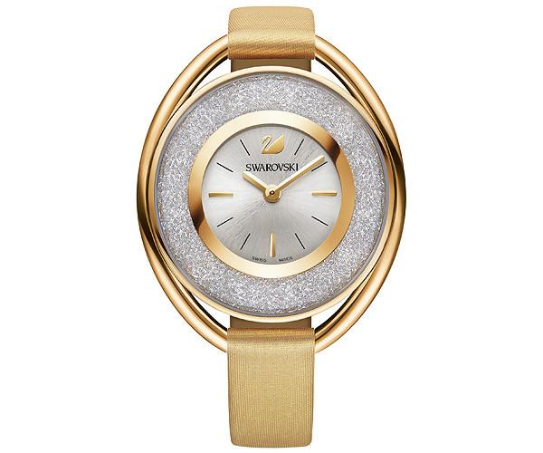 Reloj Swarovski Crystalline Ovale piel crema