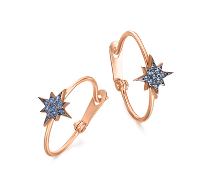 Pendientes estrella polar con Topacio London