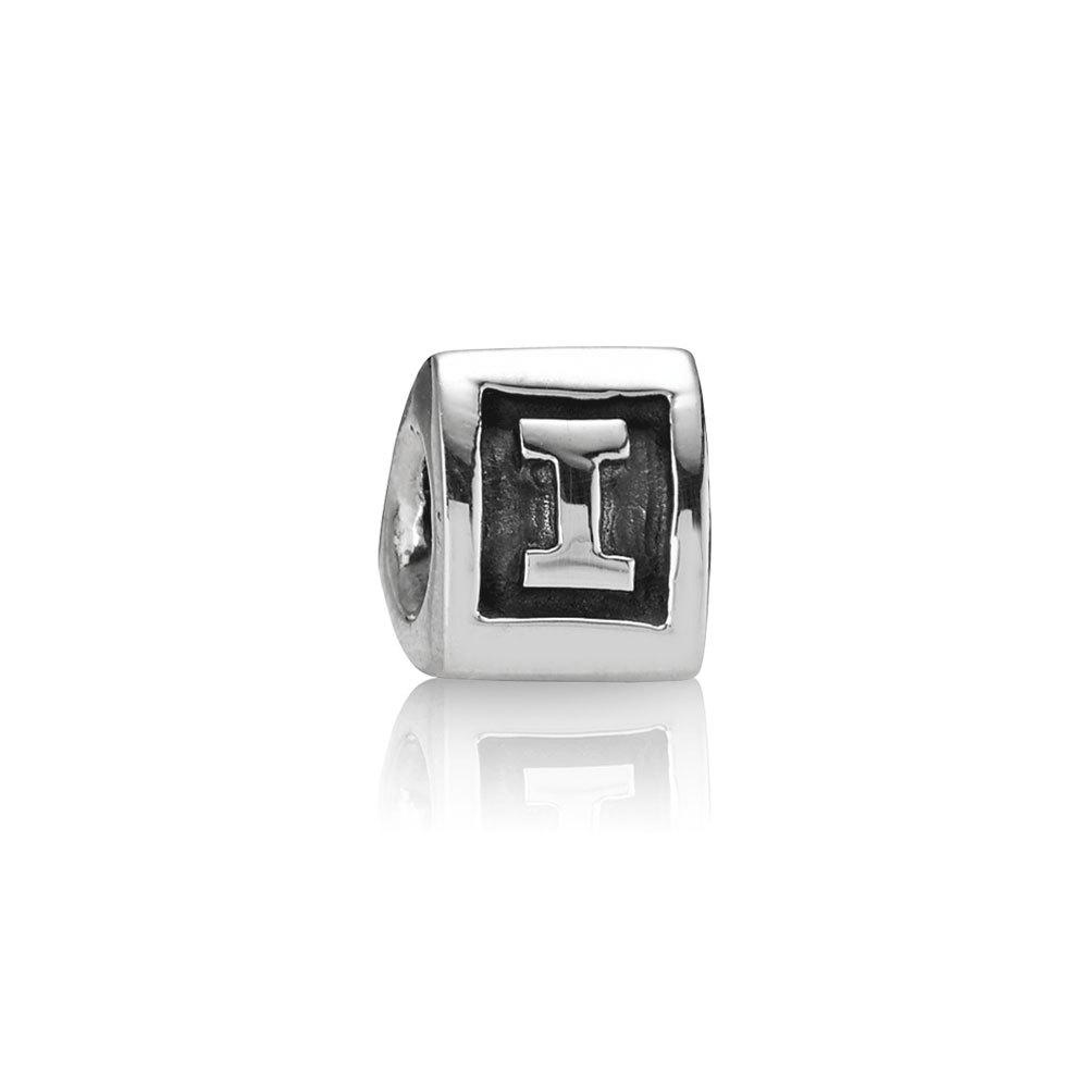 Abalorio Pandora plata inicial I