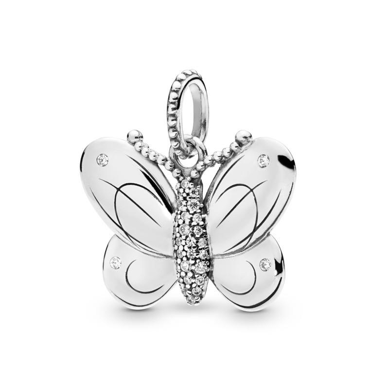 colgante plata mariposa imagen 1