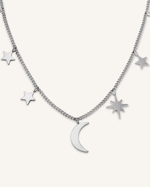 Collar de luna y estrellas