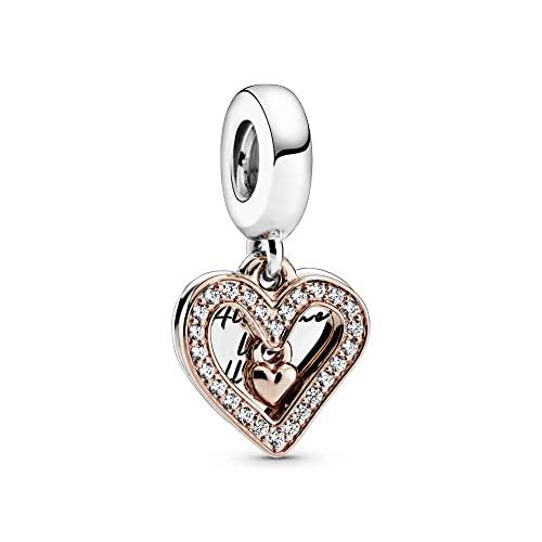 Charm Pandora colgante Corazón Brillante