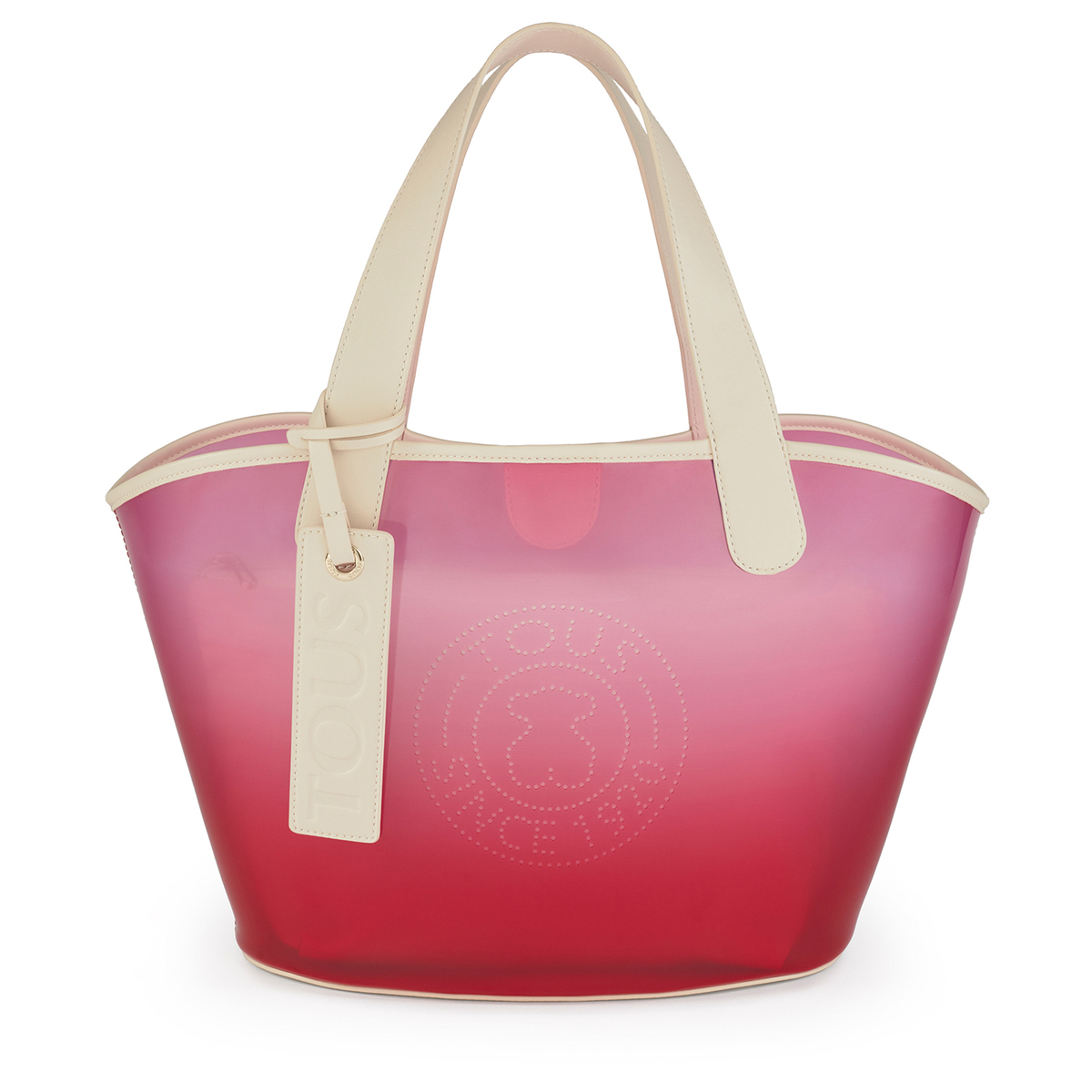 Shopping grande Leissa Gum en color rojo
