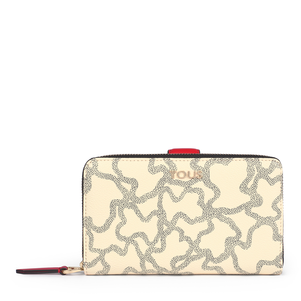 Mediana Billetera Kaos Icon Multi Beige - Rojo