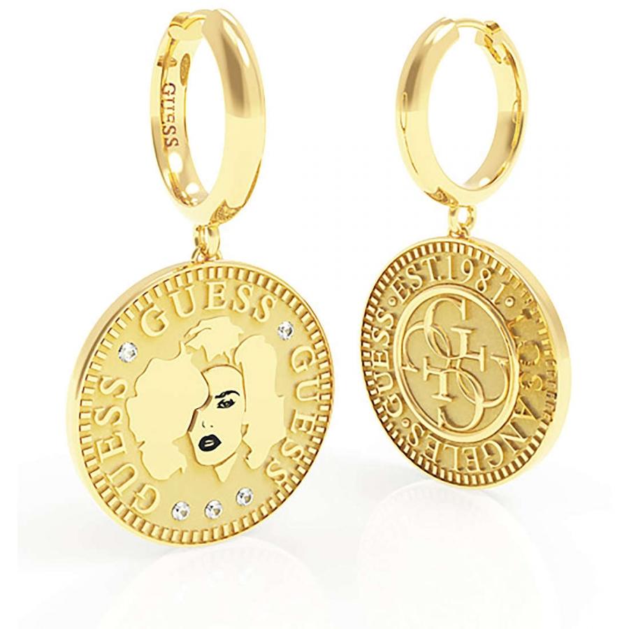 Pendientes Guess Coin Moneda dorada UBE79156  imagen 1