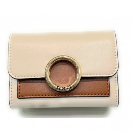 Billetera Audree beige-marrón
