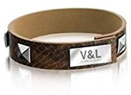 Pulsera V&L animal print marrón