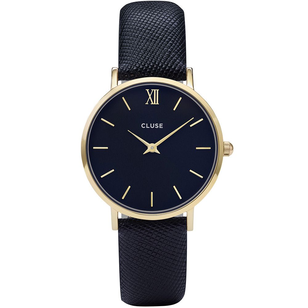 Cluse Minuit Gold Midnight Blue