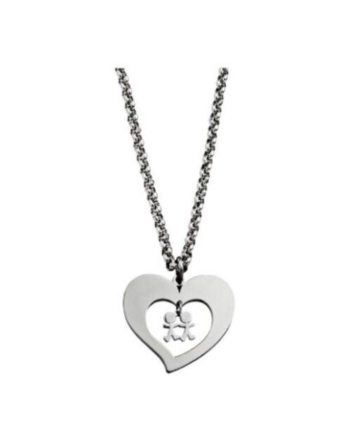 Collar Corazón Niños 7HSS010636C