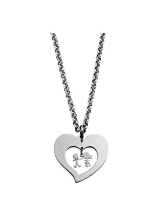 Collar Corazón Niño y Niña 7HSS010636B