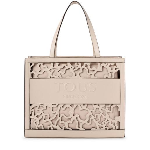 Shopping grande Amaya Kaos Shock beige