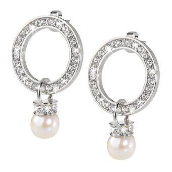 Pendientes Morellato perlas y circonitas